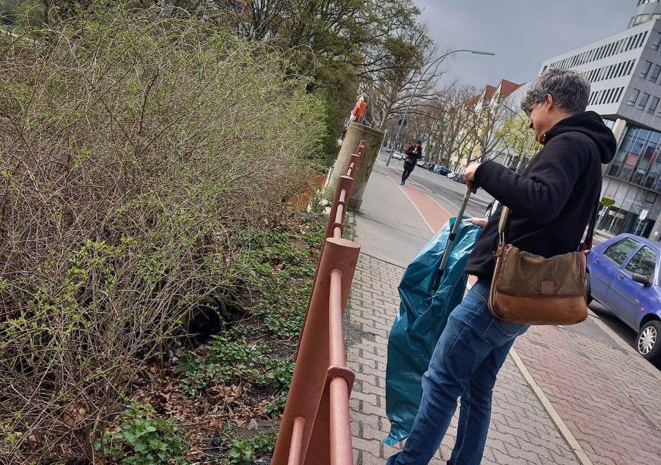 Clean Up Moabit: Müllsammel-Aktion am Neuen Ufer