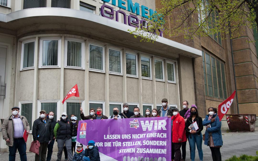 1. Mai: Im Einsatz für den Erhalt von Arbeitsplätzen bei Siemens Energy in Moabit