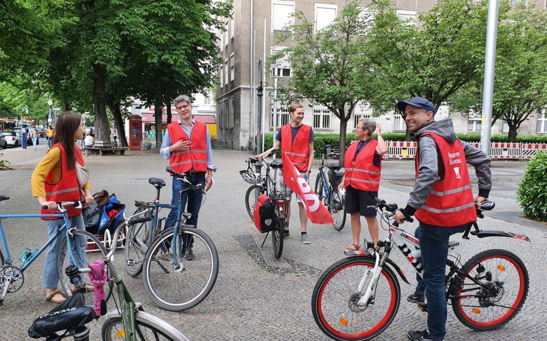 SPD-Fahrrad Infostand