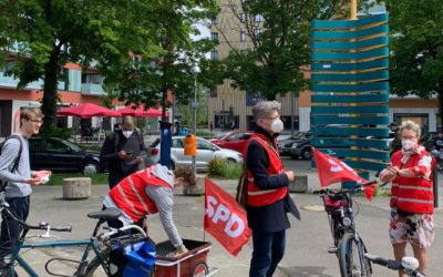 SPD-Fahrradtour durch den Kiez