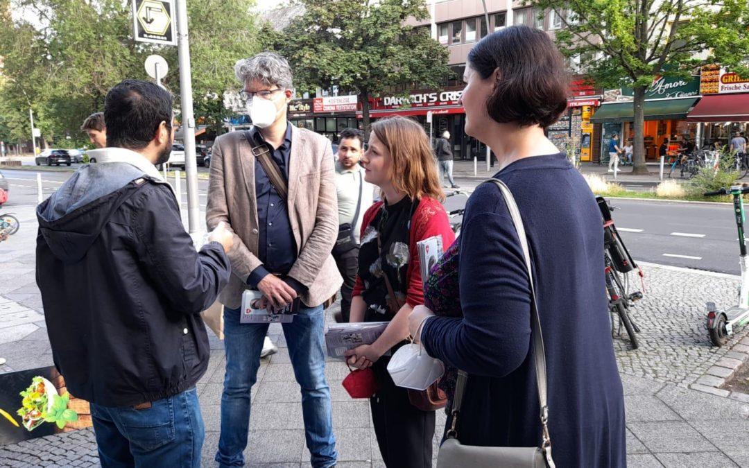 Gewerbetreibende auf der Turmstraße besucht