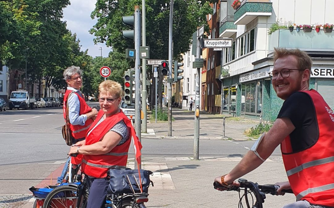 SPD Fahrrad-Infostand