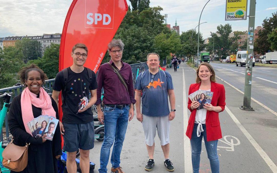 Frühverteilung mit Bundestagskandidatin Annika Klose